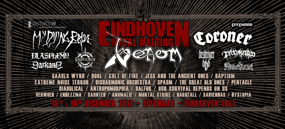 Eindhoven Metal Meeting: Venom + My Dying Bride + Blasphemy + Merciless e.v.a