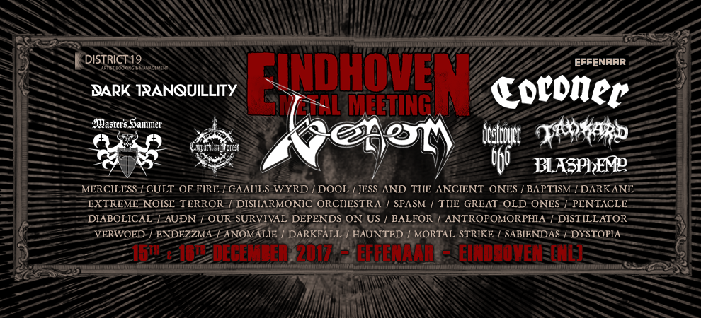 Eindhoven Metal Meeting:  Dark Tranquillity + Carpathian Forest + Blasphemy