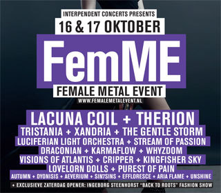 FemME: Lacuna Coil + Draconian + Visions of Atlantis e.a.