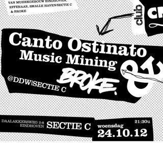 Club Cross-linx: Canto Ostinato + Broke crew + Music Mining